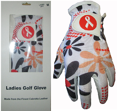 Ladies Cabretta Leather Golf Glove 8 Fashion Designs 4 5