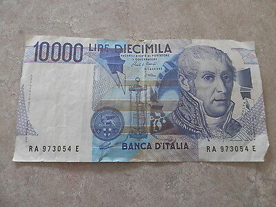 Historic banknote: 10,000 lire Banca d'Italia, 1984, no longer used as currency