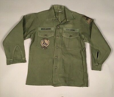Vintage OG-107 Men's COTTON SATEEN Utility Fatigues US Army MORTAR CREW 1976 #1