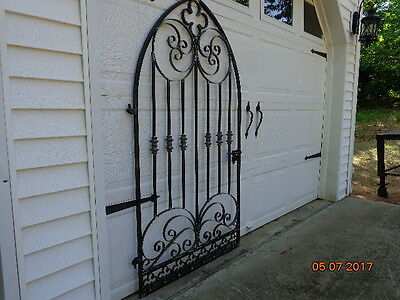 Gothic Iron Scroll Garden / Wine Cellar Gate Look!!