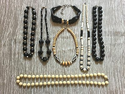 Black & White Vintage Job Lot of Necklaces Jewellery. MUST LOOK!