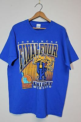 1996 NCAA Final Four Kentucky Wildcats UK  T-Shirt Vintage Men's Size XL