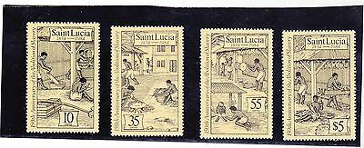 Stamps of St Lucia.