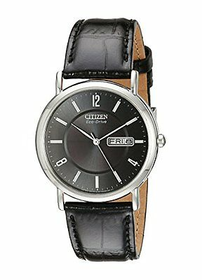 Citizen Men's BM8240-03E Eco-Drive Stainless Steel Black Leather Watch