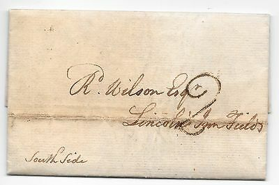 Great Britain Stampless Cover #2 Charge Mark Read Description
