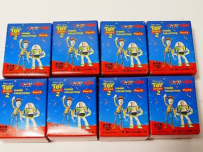 Yujin Toy Story 2 Figure Collection Part 2 Complete Set of 8 with Metal Toys.