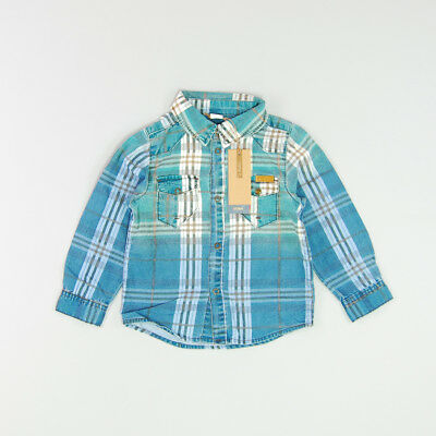 Camisa color Azul marca Name it 12 Meses