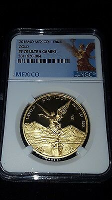 2015-Mo Mexico 1 oz. Proof Gold Libertad NGC PF70 UC (Exclusive Label)