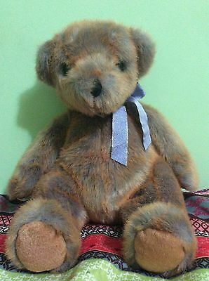 """Ty Big 11"""" Sitting Position Red And Blue Fur Mixed Bear (4)"""