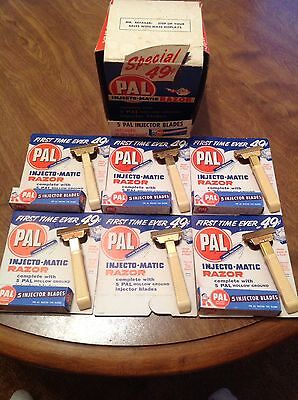 Pal Injecto-matic Razor (NOS) 6 Pack In Original Box Vintage Razor
