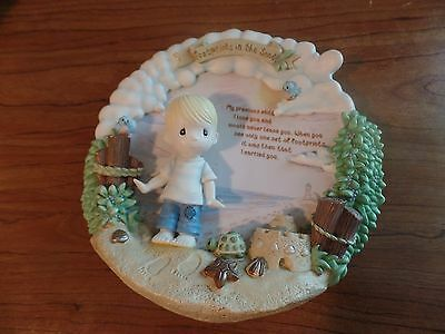 Precious Moments Bradford Exchange Plastic Plate-Footprints in The Sand #2127