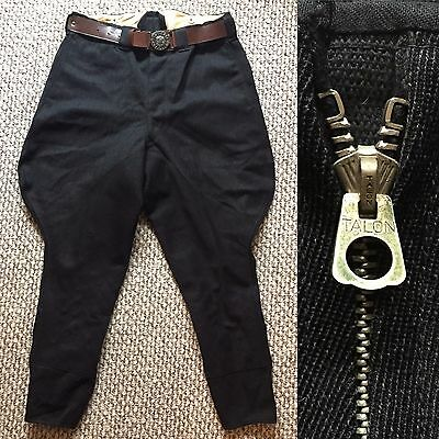 Vintage Vtg 1940s 40s Rare Boy Scout Riding Jodhpurs Pants Belt Talon Canada