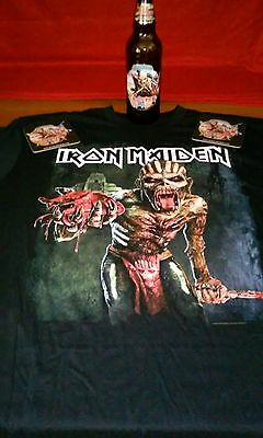 Iron Maiden 2016 Book of Souls North America XL T Shirt Trooper Beer Bottle USA