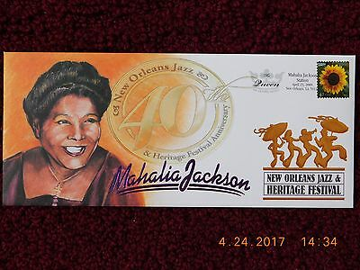 Mahalia Jackson 2009 New Orleans Jazz Fest Commem Envelope Ltd Ed #1547/3000