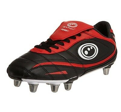OPTIMUM iNFERNO II RUGBY BOOTS Size 7 Changeable Studs Comes With Stud Remover