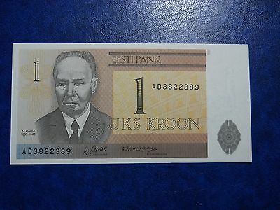 estonia ,1992, 1 kroon. UNC