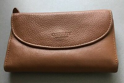 Osprey London Tan Leather Purse Used