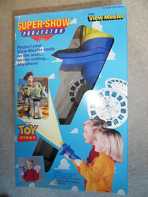 viewmaster Toy Story projector 1990s with 21 3-D film pics WORKING 31 x 20cm