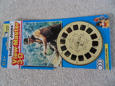 Viewmaster Indiana Jones x 3 reels 21 3-D pics from first 3 films RARE