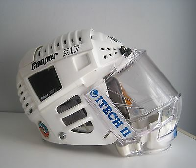 Vintage Cooper XL7 hockey helmet craked  w   Itech Face Shield
