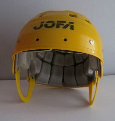 Vintage Jofa Yellow Ice Hockey Helmet Hurling Jr