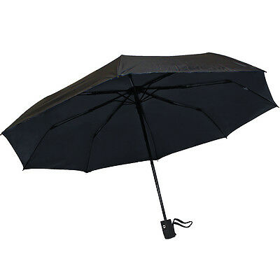 Anti-uv Sun Protection Portable Parasols Rain Umbrellas Auto Open Close Black