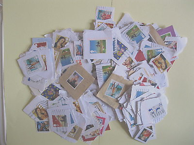 Over 400 X Gb Mixed Self Adhesive Stamps. On Paper.