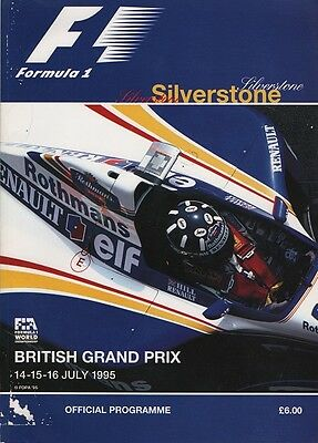 British Grand Prix Silverstone Official Programme 1995