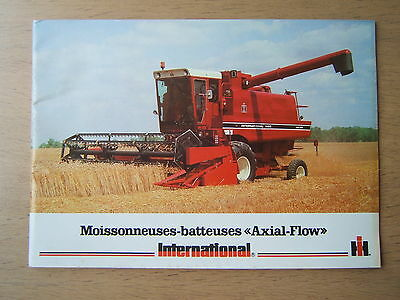 Prospectus  tracteur moissonneuses IH International
