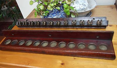 Victorian Mahogany Snooker/billiard Cue Rack~Wall Mounted~12 Cue Holders