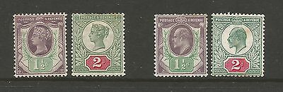QV 1887 Jubilee / EVII 1.5d and 2d stamps Mint MNH and MH