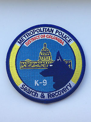 Metropolitan Police Department Search And Recovery Patch.