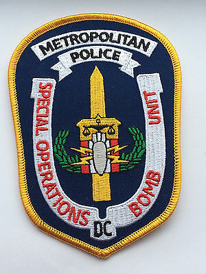 Metropolitan Police Department Special Operations Bomb Unit Patch.