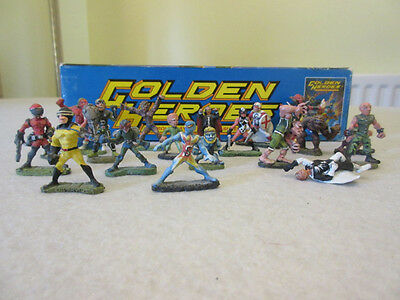 Golden Heroes, Super-hero RPG & 20 metal painted figures, Games workshop.
