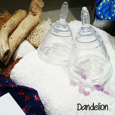 Reusable MEDICAL FDA Silicone clear soft Menstrual Period DIVA style Cup L or M