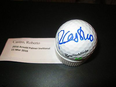 Roberto Castro Signed TaylorMade Golf Ball