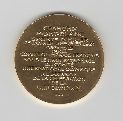 Winner medal   I.Olympic W.Games CHAMONIX 1924  -  Gold platet  !!  VERY RARE