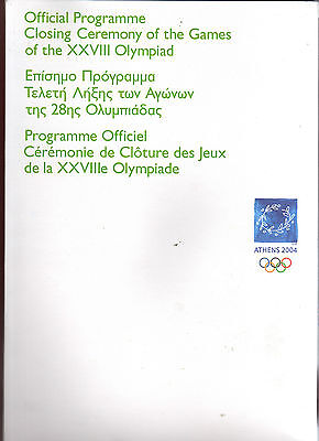 Orig.PRG     XXVIII. Olympic Games ATHEN 2004 - CLOSING CEREMONY  !!   VERY RARE
