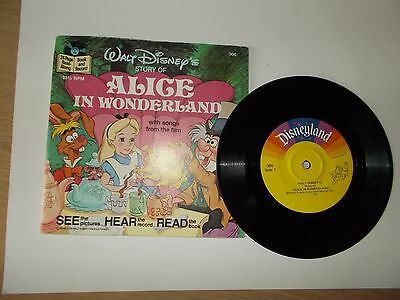 Walt Disney's Story Of Alice In Wonderland - Story Book And Record  **free P&p**