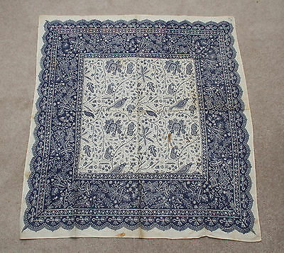antique vintage blockprint tablecloth