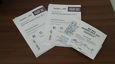 2 Adult tickets for Redbull Soapbox