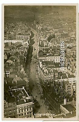 BIRMINGHAM corporation st from the air,REAL PHOTO-ww167
