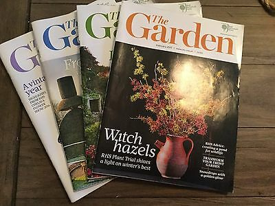 The Garden-The RHS Magazines x3 from 2016 and 1 from 2017