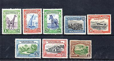 small collection of 8 mint stamps from mozambique
