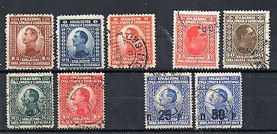 collection of 9 used early stamps from yugoslavia. 1921/1924