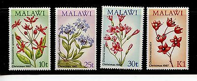 Malawi #506-509 (MA751) Complete 1987 Wild Flowers issue, MNH, VF