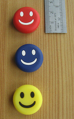 3 pc Silicone Smiling Face Vibration Dampener Shock Absorber For Tennis Racket