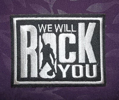 Queen Patch We Will Rock You Freddie Mercury Classic Rock Diy
