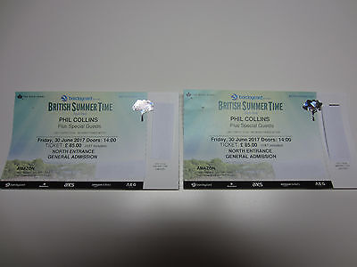 x2 PHIL COLLINS Tickets BST Festival Hyde Park (30/06/17)