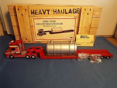 Corgi Heavy Haulage No 12810 Scania T can low loader and load S Kydd VNMB